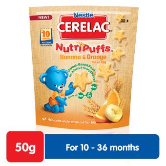 Nestle Cerelac Nutripuffs Banana & Orange 50g Pack of 3