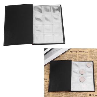 New 120 Pockets 10 Pages World Coin Storage Folder Album MoneyCollecting Holder Book Black - intl - 3