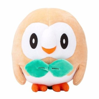New 17cm Pokemon Center Rowlet Plush Toy Soft Stuffed Animal Doll for boy girl - intl
