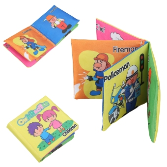 New Baby Early Learning Intelligence Development Cloth CognizeFabric Book Educational Toys - Intl