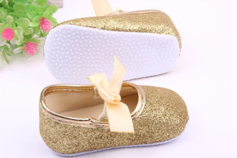 New Baby Girl Shoes New Born Toddler Shoes For Girls Bling Bowknot Princess Baby shoes First Walkers Silver - 3