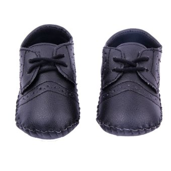 New Baby Shoes Infants Boy Handmade Stitch Pu Shoes Babe Slip-onFirst Walkers Kids Footwear