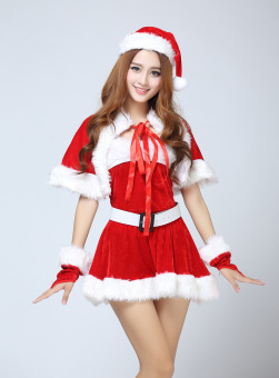 New Candy Christmas Costume sexy Santa Claus women red suits - intl - 3