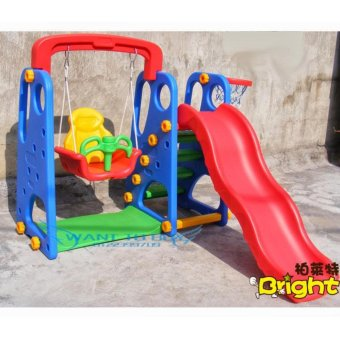 New Design Safety 3 in 1 Kids Playground Set Slide Swing Basketball Price Philippines