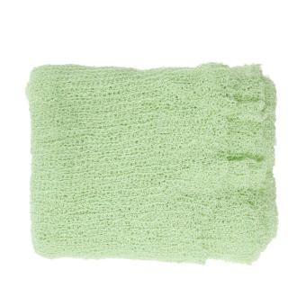 Newborn Baby Cotton Linen Swaddle Wrap Photography Prop (LightGreen) - intl