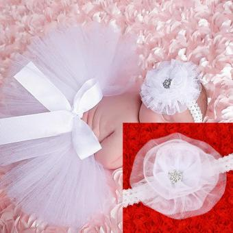 Newborn Baby Infant Costume Hair Band Bowknot Tutu Skirt - intl