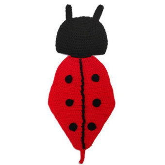 Newborn Baby Knit Ladybird Costume Photography Clothing - picture 2