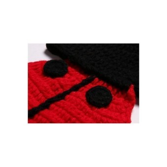 Newborn Baby Knit Ladybird Costume Photography Clothing Red (Intl) - picture 2