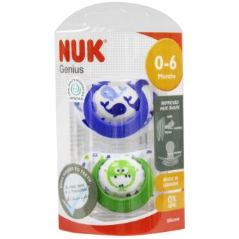 Nuk Genius Silicone Soother 2 Pack (0-6 months)
