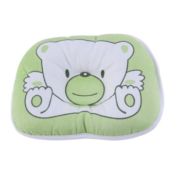 OH Bear Pattern Green Pillow Newborn Infant Baby Support Cushion Pad Prevent Flat Head - picture 2