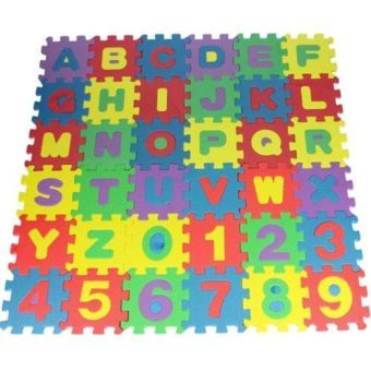 Okdeals 36pcs Unisex Mini Puzzle Kid Educational Toy Alphabet Letters Numeral Foam Mat (Intl)