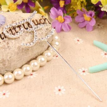 Outstanding Diamante Letter Z Monogram Cake Toppers for Wedding Birthday (Intl)