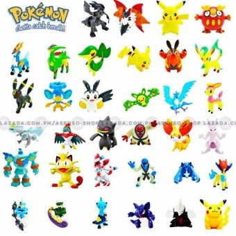 Pack of 144 Random Assorted Mini Pokemon Collectible Figurines - picture 2