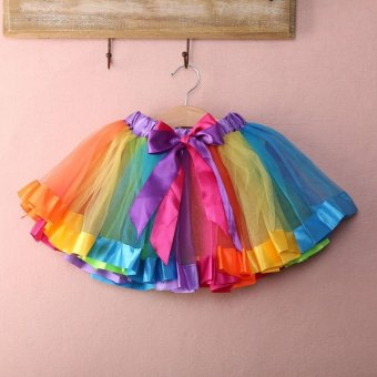 PAlight Baby Girls Rainbow Tutu Skirt Party Costume Fancy TutuPettiskirt - intl
