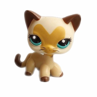 Pet shop Beige cat with heart pattern Doll Figure Child Toy Action figure girl's Collection classic animal pet LPS toys European - 2
