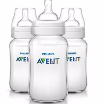 Philips AVENT Classic Plus BPA Free Polypropylene Bottles, 11Ounce, Pack of 3 (White)