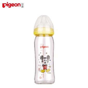 Pigeon Disnep Wide Caliber Glass Bottle 240ML