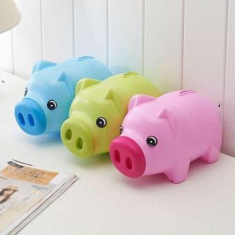 PIGGY BANK - Money Box For Saving Coins & Cash Fun Gift PlasticNovelty Pig Safe - intl - 3