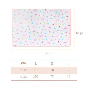 Pink Baby Changing Pad Eco Cotton Infant Waterproof Cover PrintedUrine Mat S - 3