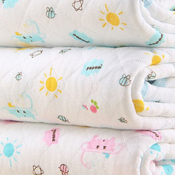 Pink Baby Changing Pad Eco Cotton Infant Waterproof Cover PrintedUrine Mat S - 5