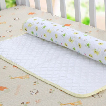 Pink Baby Changing Pad Eco Cotton Infant Waterproof Cover PrintedUrine Mat S - 4