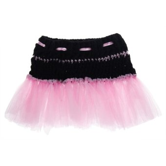 Pink TuTu Skirt Baby Girls Newborn Knit Crochet Costume Infant Photo Prop Outfit - Intl - picture 2
