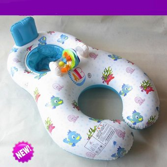 pool floats for adults and baby kids floating boat baby floatinflatable swim ring seat children's inflatable swim Mother child -intl