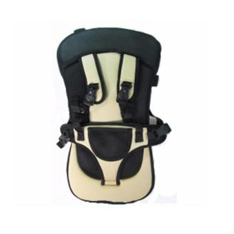 Portable Baby Safety Car Seat Harness (Black/Brown)