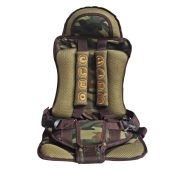 Portable Child Safety Car Seat (Army Color) with free 3pcs Baby Wipes Assorted Color - picture 2