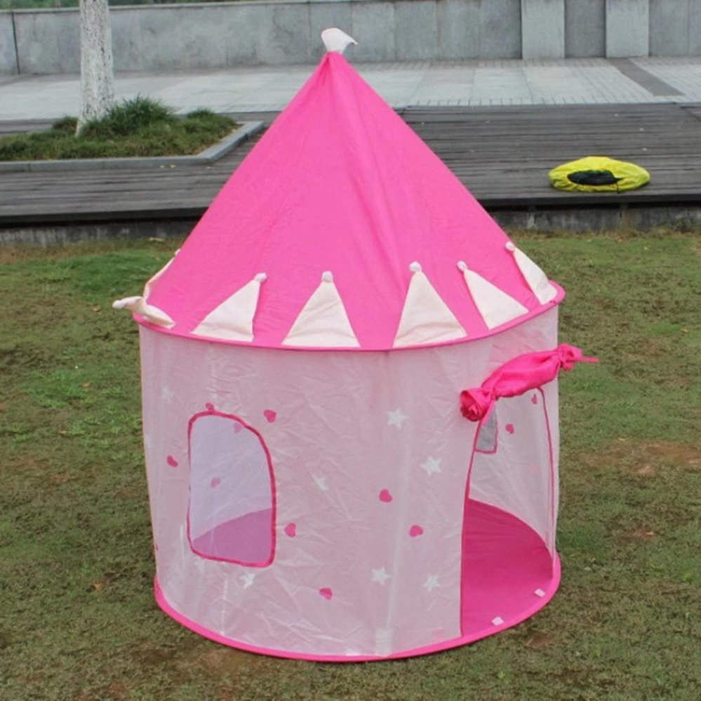... Portable Kids Children Pop Up Play Tent Foldable Girl PrincessCastle  Indoor Outdoor Play Tents Playhouse  ...