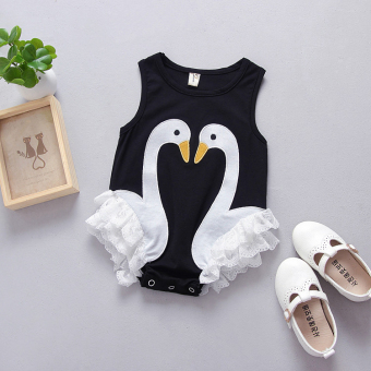 Princess cotton female newborns crawling clothes onesie
