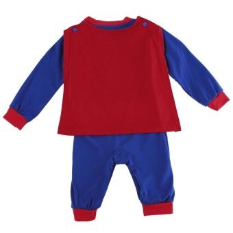 Promotion Sunwonder Superman Suit Fancy Dress SuperHero Costume Jumpsuit for Baby Toddler Kid Boy Romper Gift - intl - 2