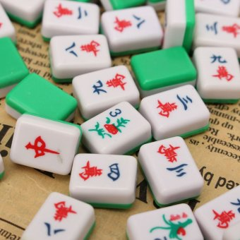 PUZ Mini 144 Mahjong Tile Set Chinese Traditional Game Travel Outdoor Play - intl - 3