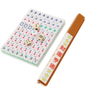 PUZ Mini 144 Mahjong Tile Set Chinese Traditional Game Travel Outdoor Play - intl