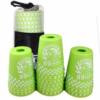 Rapid Cup Speed Training Sports 12 Pcs 89 Moto Stacking Cups(Green) - 3