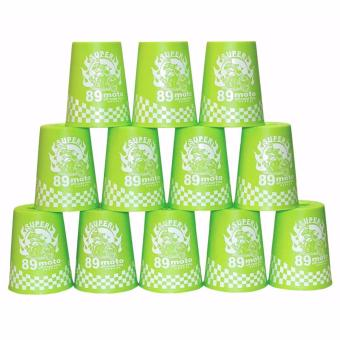 Rapid Cup Speed Training Sports 12 Pcs 89 Moto Stacking Cups(Green)