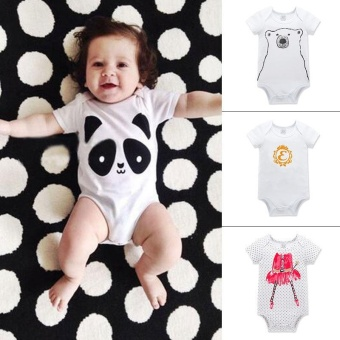 RHS Newborn Kids Infant Baby Boys Girls Summer Romper JumpsuitBodysuit Outfits Clothes(Panda) - intl - 3