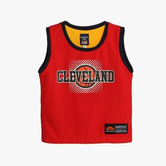 Rookie Boys Cleveland Reversible Jersey Shorts Set (Red) - 2