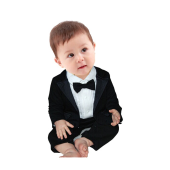 Rorychen Baby Boys 2PCS Gentleman Suit: Semiformal Romper + Coat