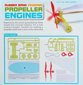 Rubber band Powered Propeller Engine - picture 2