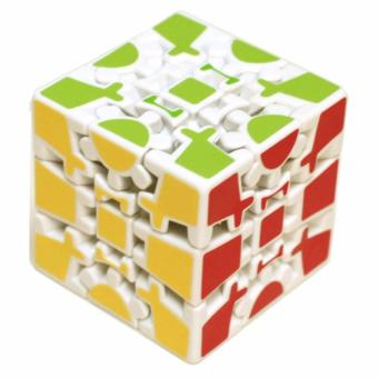 Rubik's Gear Cube Brain Teasers Speed Magic Cube Puzzles White Body Level 8
