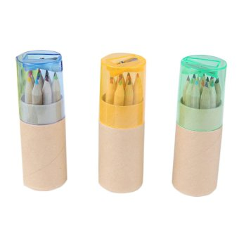 S & F Pencils with Sharpener Wooden Set of 12 (Multicolor) (Intl)