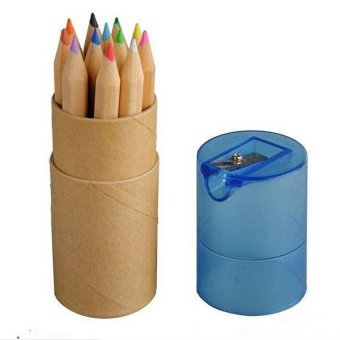 S & F Pencils with Sharpener Wooden Set of 12 (Multicolor) (Intl) - picture 2