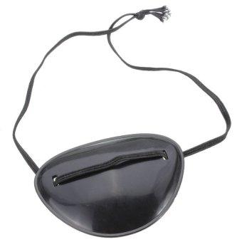 S & F Plastic Black Pirate Eye Patch Eyepatch Accessories Halloween Costume Dress Up - Intl