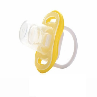 Safe Silicone Thumb Shaped Pacifier Yellow