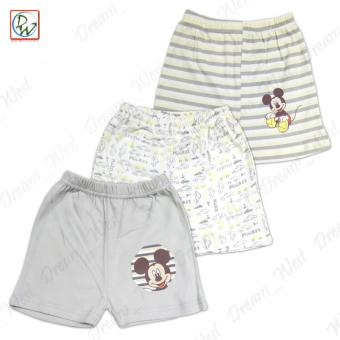 Sando & Short Set of 6 Baby Mickey by Disney Baby 9-12 MonthsOld (Grey/Yellow) - 3