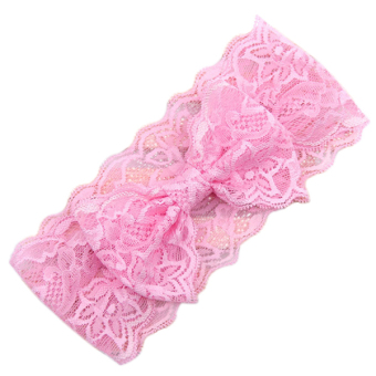 Sanwood® Baby Girl Toddler Lace Bowknot Hair Band Pink