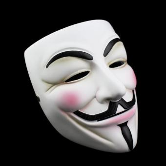 Scary Resin V for Vendetta Movie Theme Figure Cosplay MaskHalloween Party Costumes Dress Up Props Collection - 2