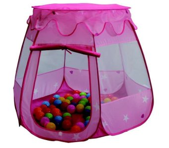 Separable Roof Kids Magic Learning House Princess Tent (Pink)