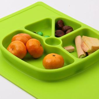 Silicone Placemat Plate Big Rectangular (GREEN)